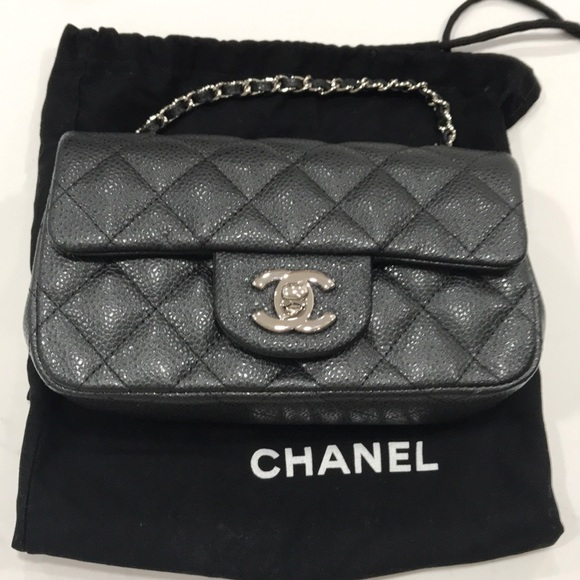 CHANEL Handbags - Chanel Mini Flap Bag - Black Caviar (Sac Rabat)